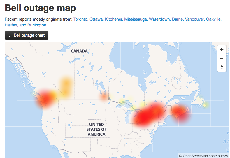 Bell Network Outage: Some Customers Still Can\'t Send Texts or Make ...