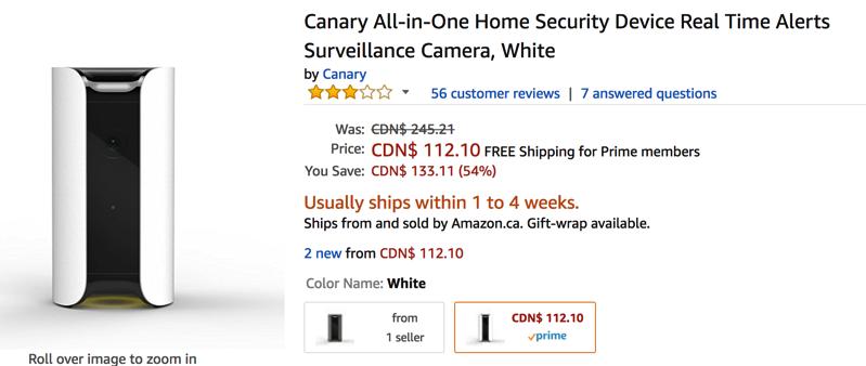 Canary sale