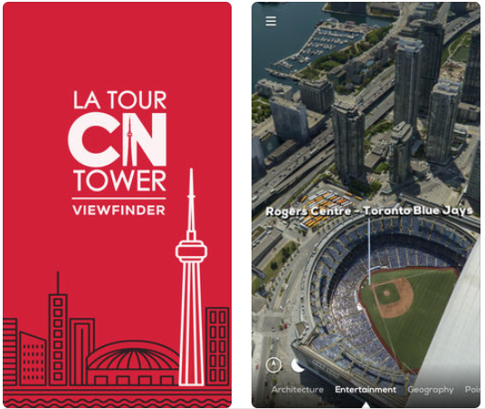Cn tower viewfinders