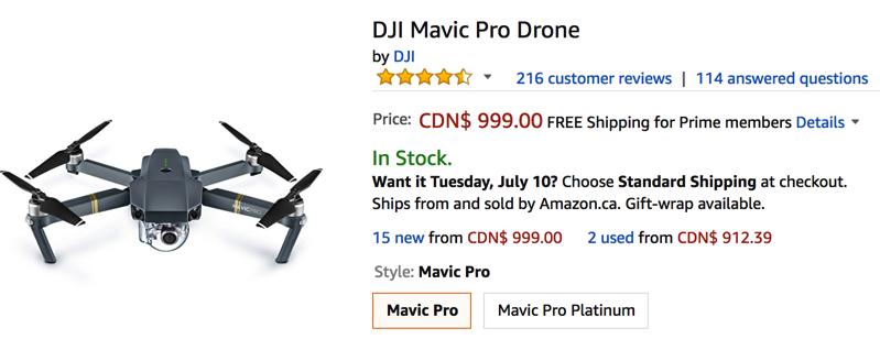 Dji mavic pro drone sale