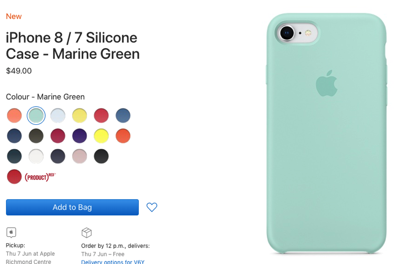 Iphone 8 silicone case marine green