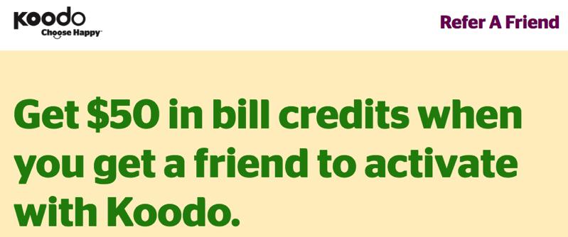 Koodo mobile refer a friend