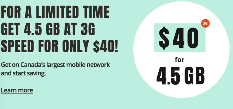 Public mobile promo $40 4 5gb