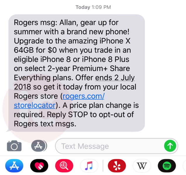 Rogers offer