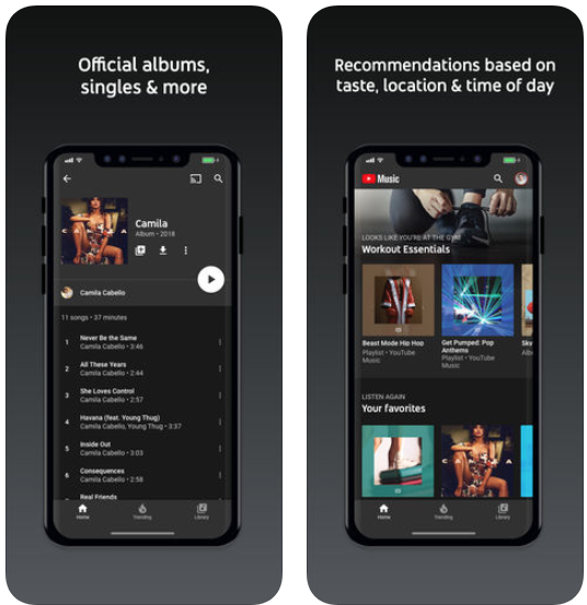 Youtube music ios app