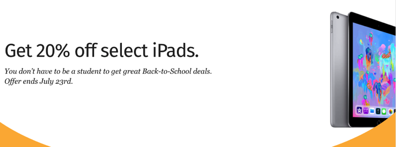 20 off select ipads rbc rewards