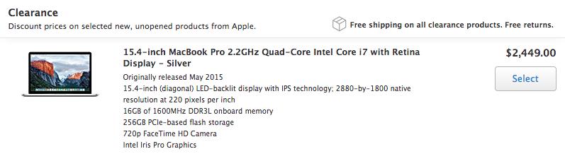 2015 macbook pro refurbished