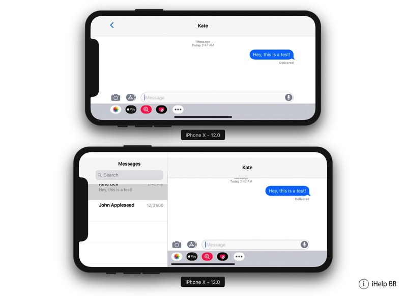 Messages iPhone XS Plus