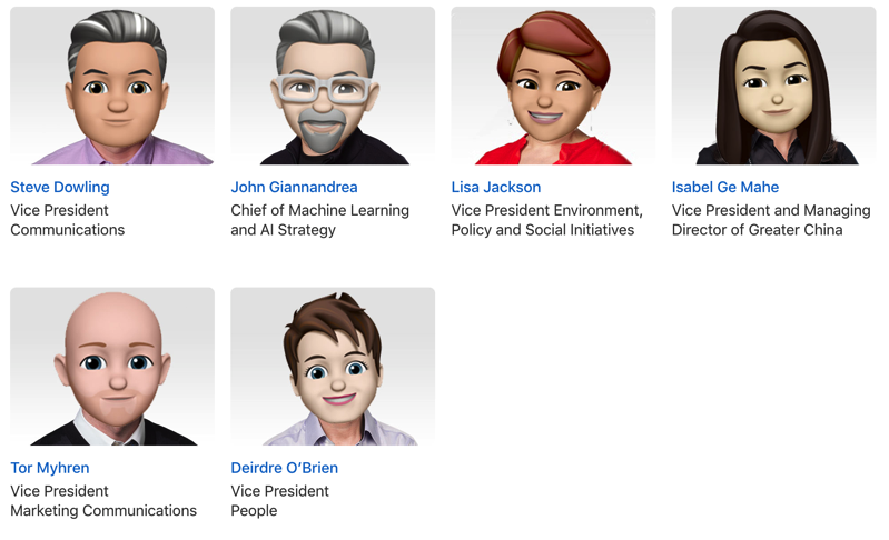 Apple executive memoji 3