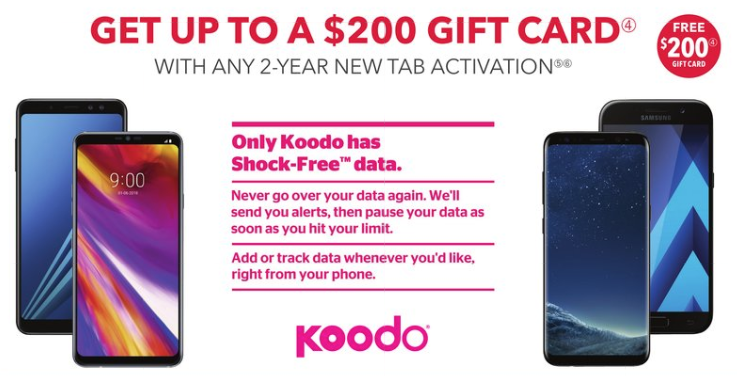 Koodo best buy gift card