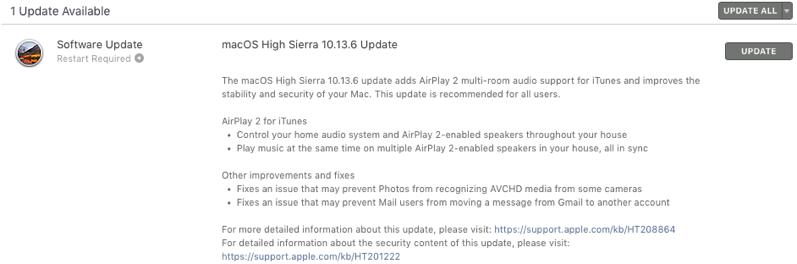 MacOS high sierra 10 13 6