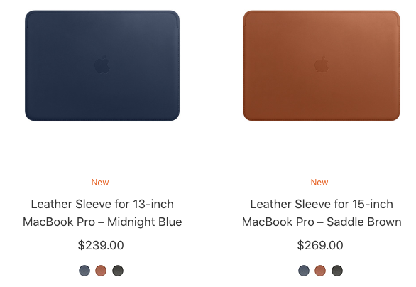 Macbook pro new leather sleeve