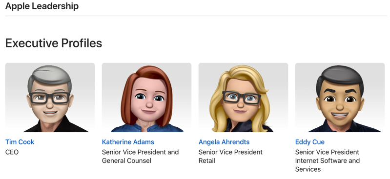 Memoji apple executive