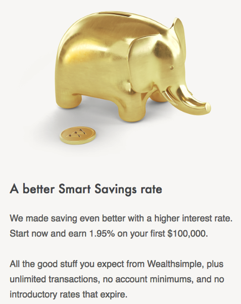 Wealthsimple smart savings hike