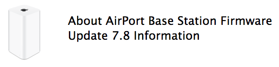Airport express firmware 7 8