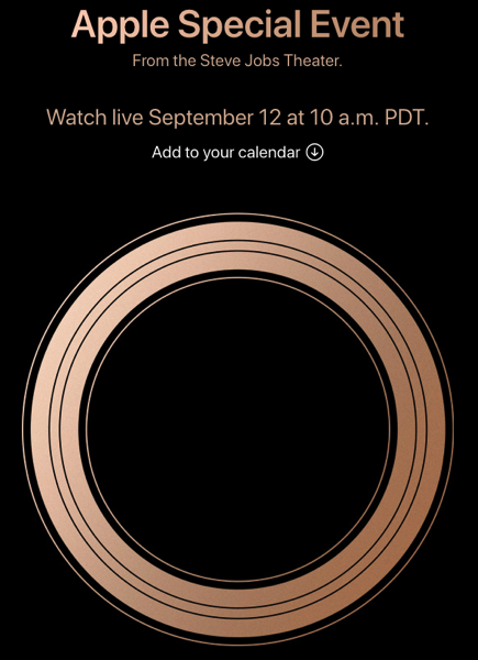 Apple september 2018 event livestream