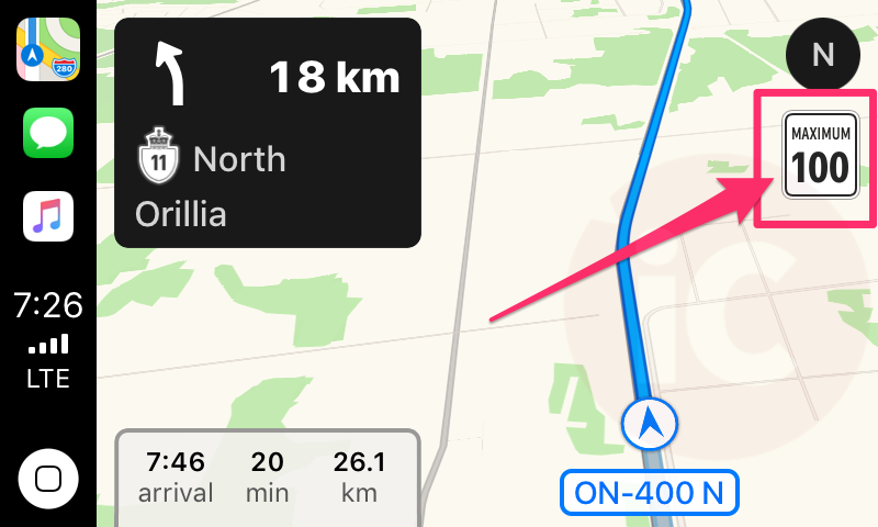 Carplay speed limit canada 2
