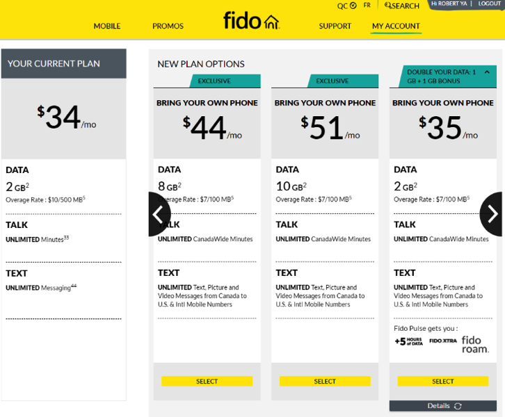 Fido $51 10gb plan