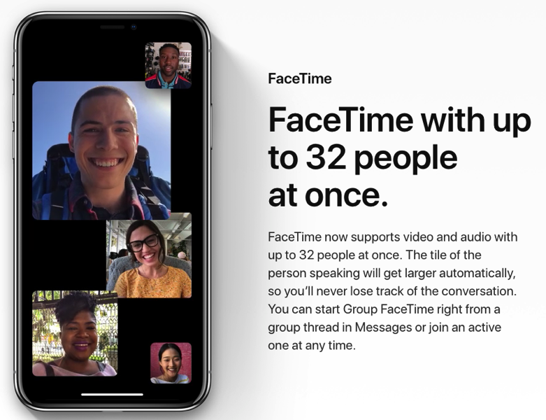 Group facetime ios 12