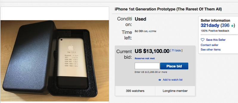 Rare 2007 Iphone Prototype Auction On Ebay Surpasses 17 000 Cad Iphone In Canada Blog