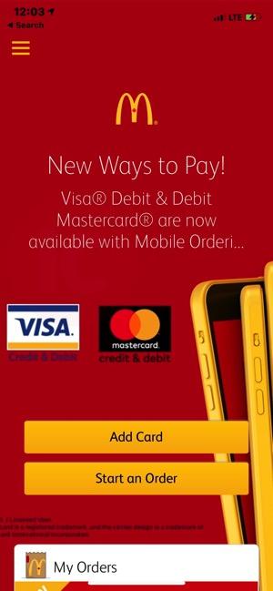 Mcdonalds mobile order