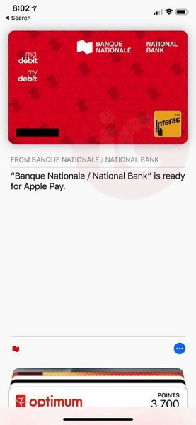 National bank canada debit