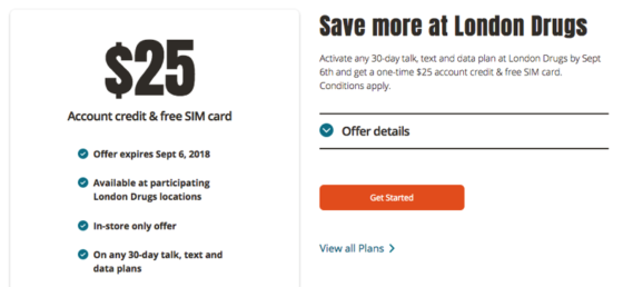 Public Mobile Promo: $25 Credit and $0 SIM Card at London Drugs, Walmart