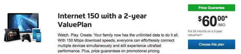 Shaw internet 150 promo