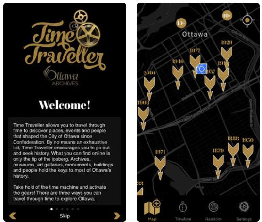Time traveller ios app ottawa