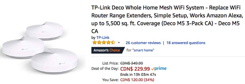 Tp link deco whole home m5