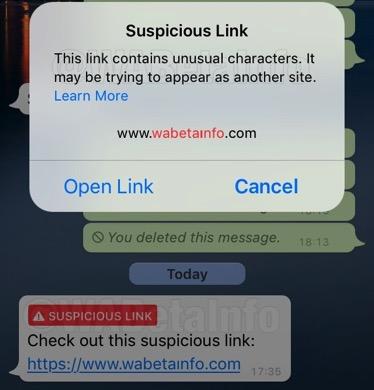 SuspiciousLinkAlert WBI IOS 4kv9