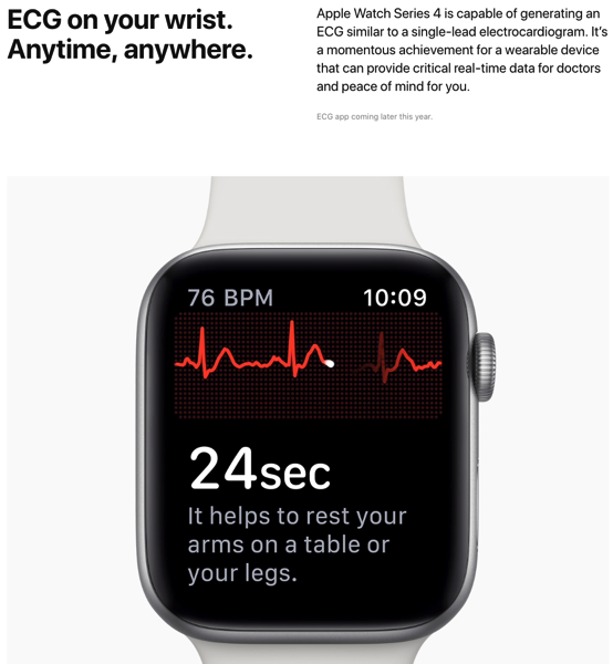 Apple watch ECG usa