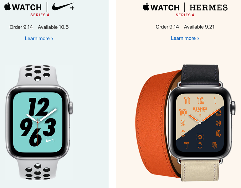 Apple watch nike+ hermes