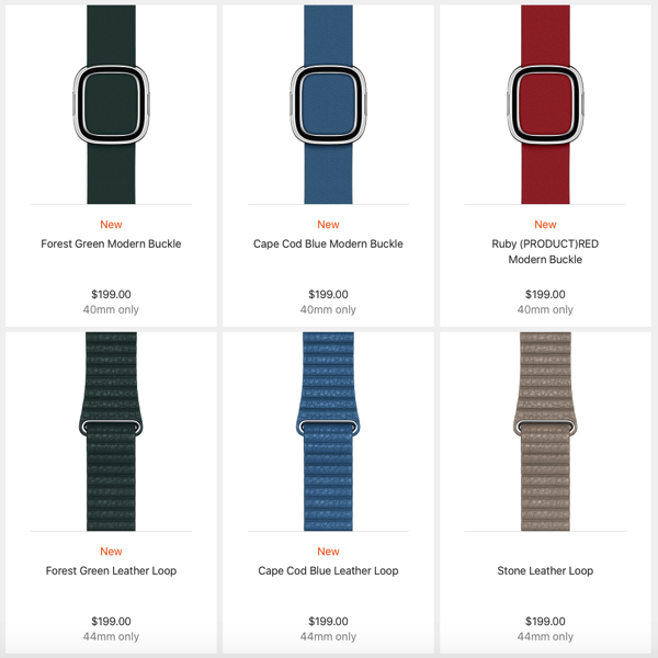 super popular a45ec 04ab4 Apple Watch Gets New Band Colors to Match the New iPhone Cases ...