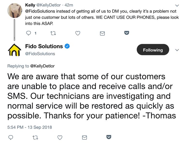 Fido outage