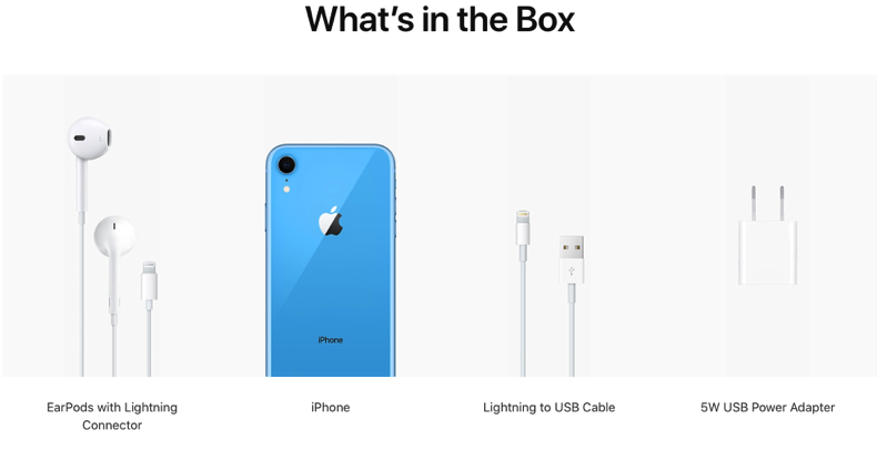 Iphone xr what s in the box