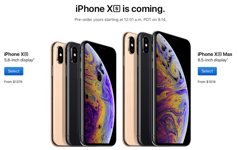 Iphone xs iphone xs max canada pricing