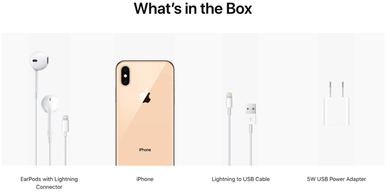 Iphone xs max what s in the box