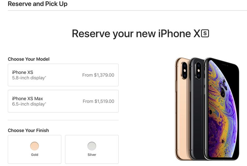 Iphone xs pre orders