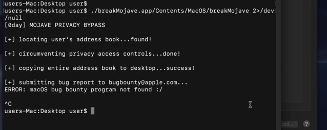 Mojave privacy bypass header