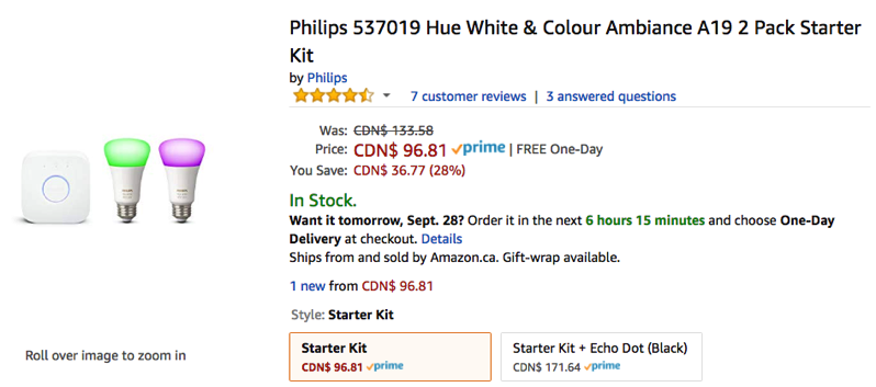 Philips hue 2 pack starter kit