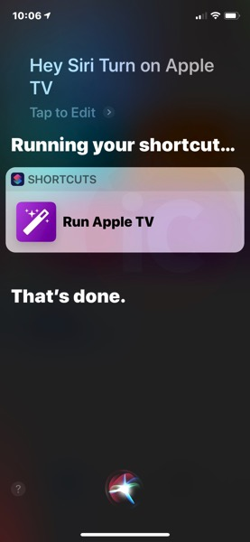 How to Turn on your TV and Apple TV with Siri Using the Shortcuts