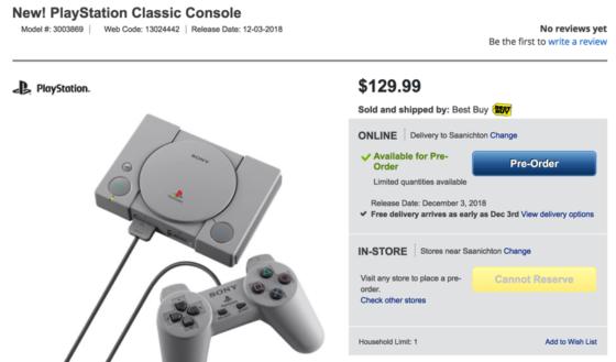 Sony playstation classic canada