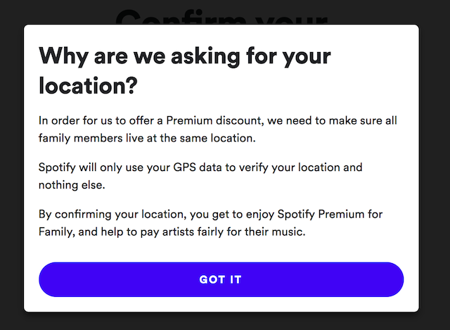 Spotify 'Premium for Family' Users Being Asked to Verify
