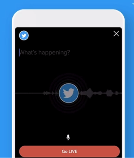 Twitter audio broadcasting