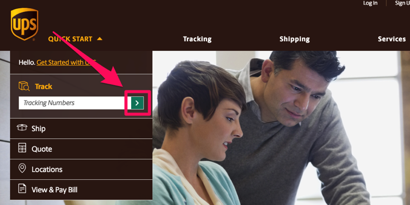 Ups tracking arrow