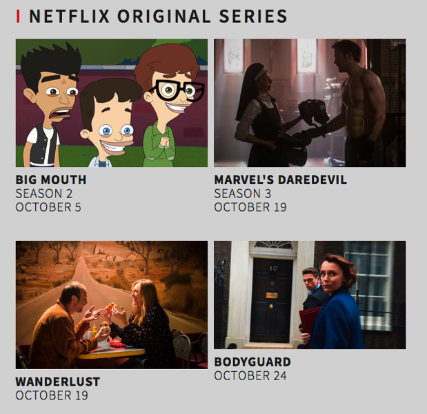 What s new netflix canada october