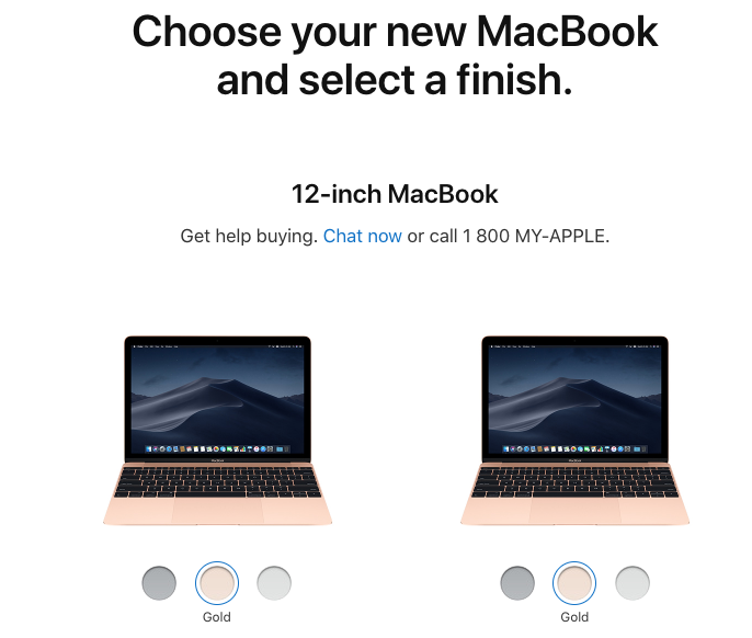 2018 12-inch macbook gold