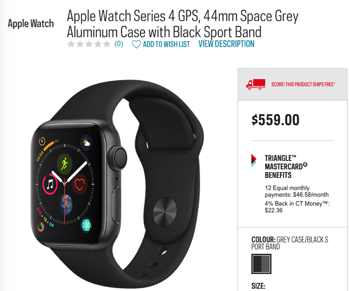 Apple watch sport chek