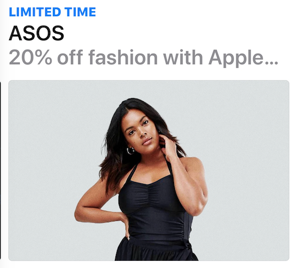 Asos apple pay